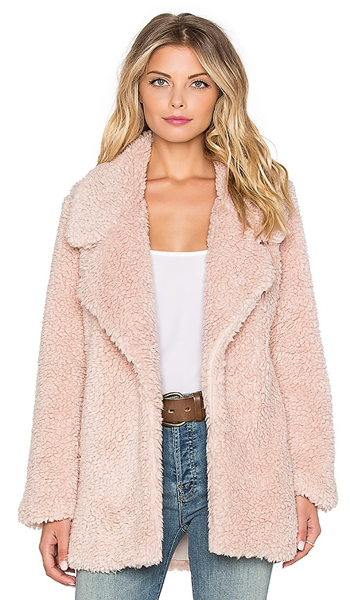 Tularosa Violet Faux Fur Coat in Pink