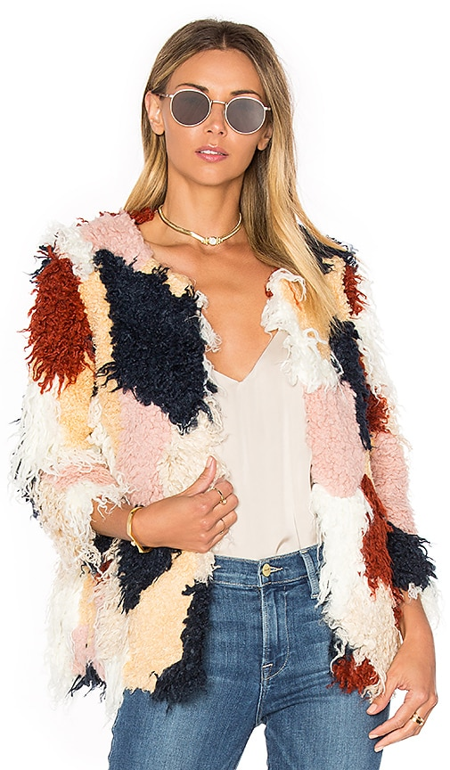 Tularosa Pfeiffer Faux Fur Coat in Blue