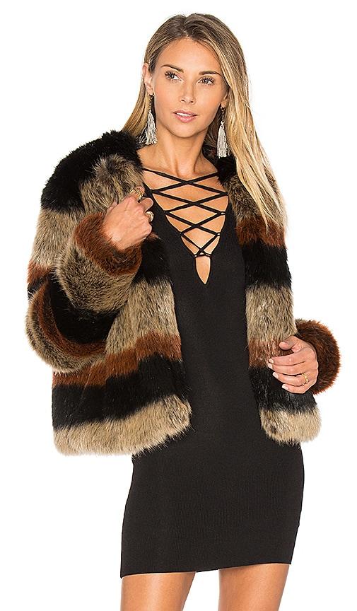 Tularosa Harkin Faux Fur Jacket in Brown