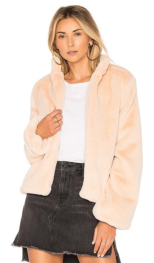 Tularosa Inori Faux Fur Jacket in Blush