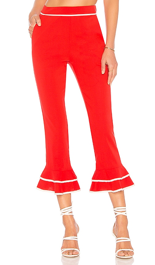 Tularosa Demi Pant in Red