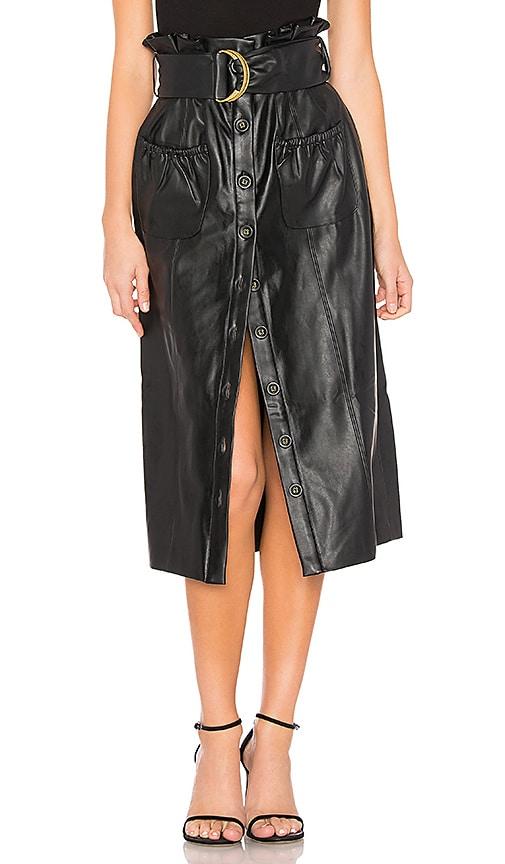 Jenna Faux Leather Skirt