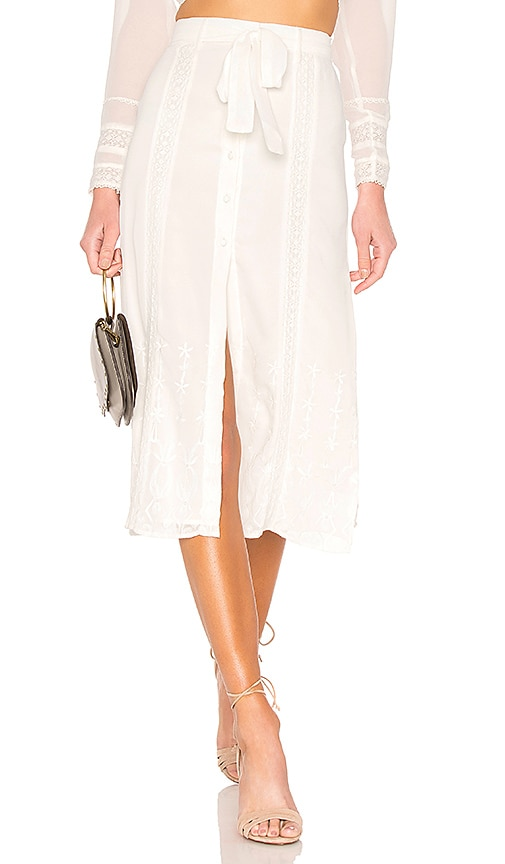 Tularosa Sangria Skirt in Ivory