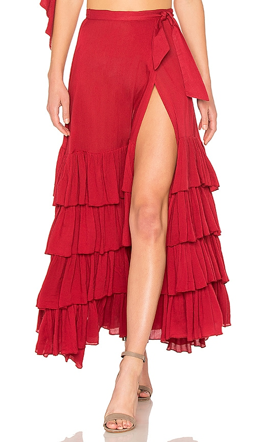 Tularosa Danni Skirt in Red