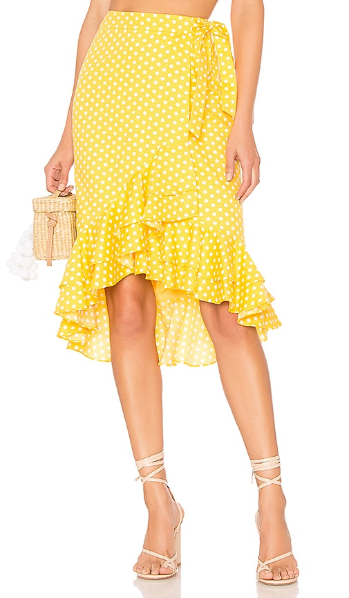 Tularosa Veronica Skirt in Yellow