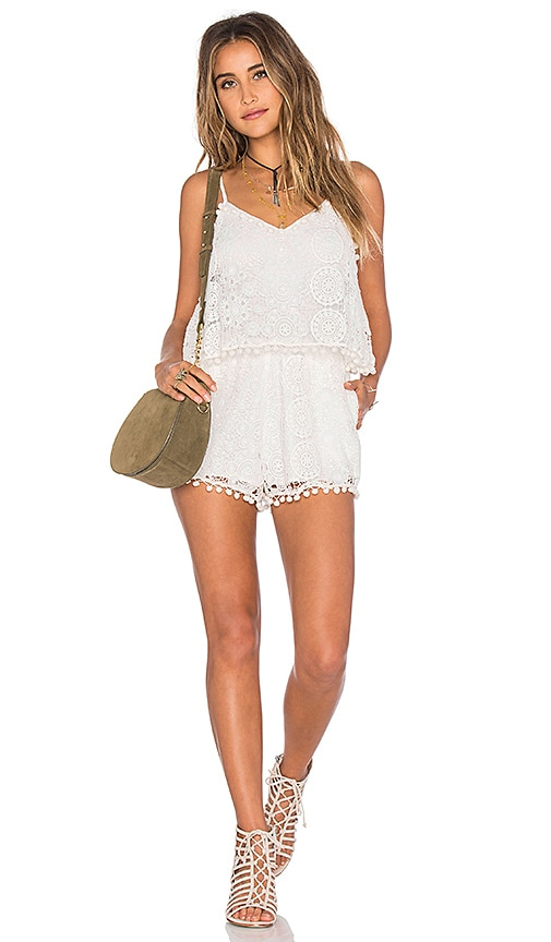 Tularosa Tenney Romper in White