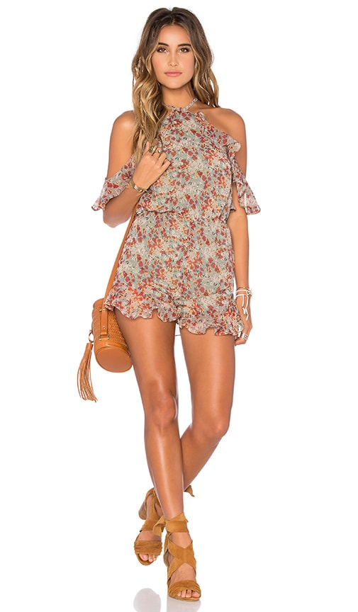 Tularosa x REVOLVE Waterfalls Backless Romper in Spring Floral