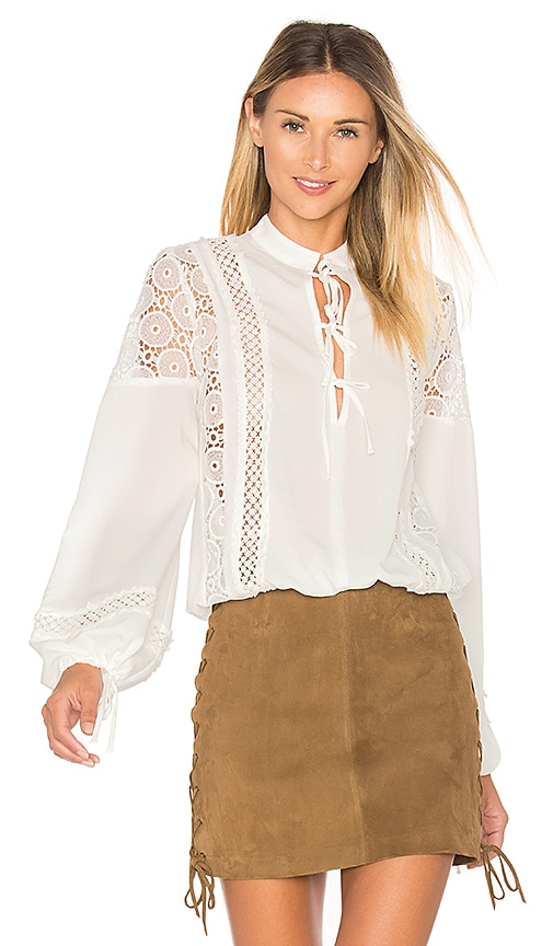 Tularosa Farrah Blouse in White