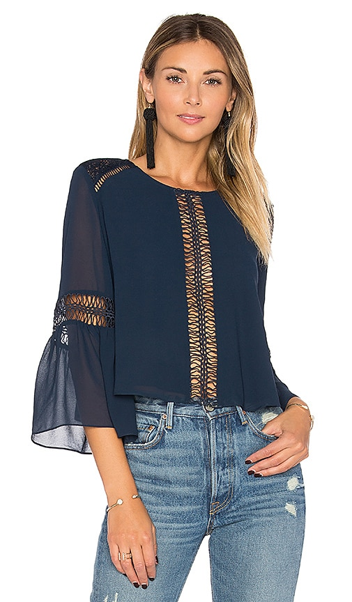 Tularosa Jaylen Blouse in Navy