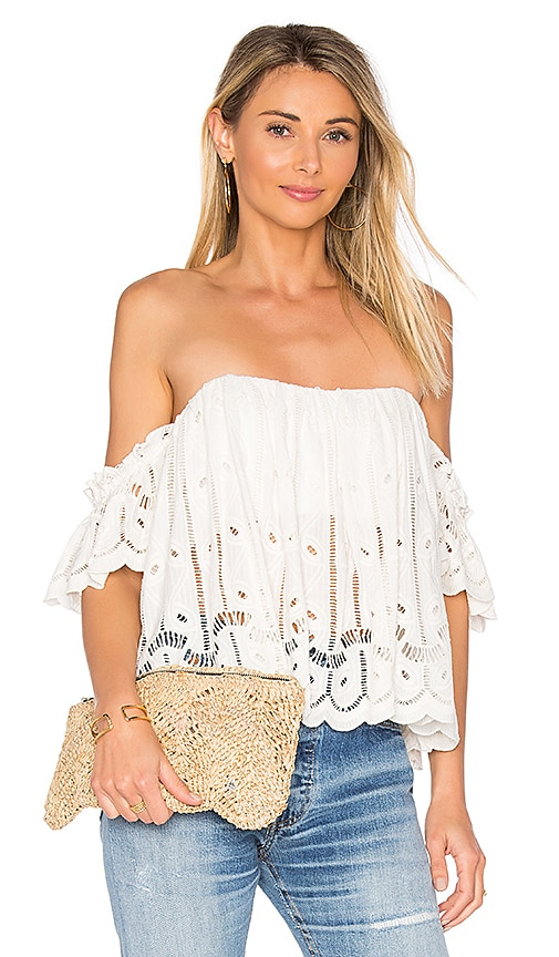 Tularosa Amelia Crop Top in White