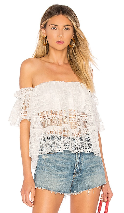 Kristy Top in White. - size S (also in M,XS,XXS) Tularosa