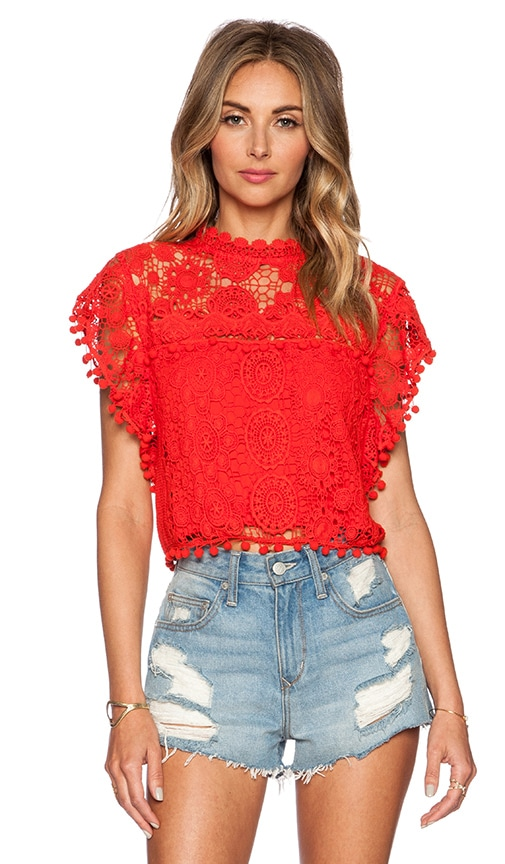 Tularosa Clayton Top in Red