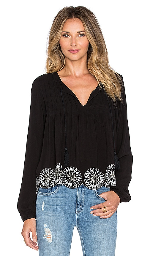 Tularosa Rose Top in Black
