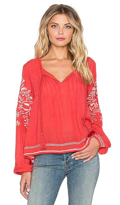 Tularosa Rose Top in Red