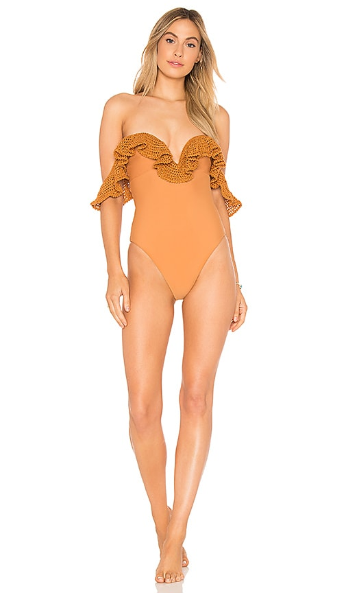 Tularosa Oh So Sweet One Piece in Burnt Orange