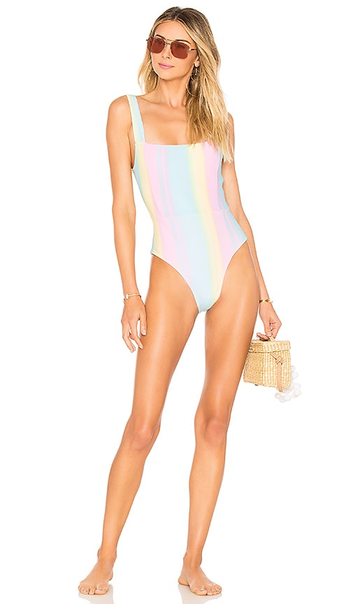 112d2be5ef8 Tularosa Karmen One Piece in Pastel Rainbow | REVOLVE