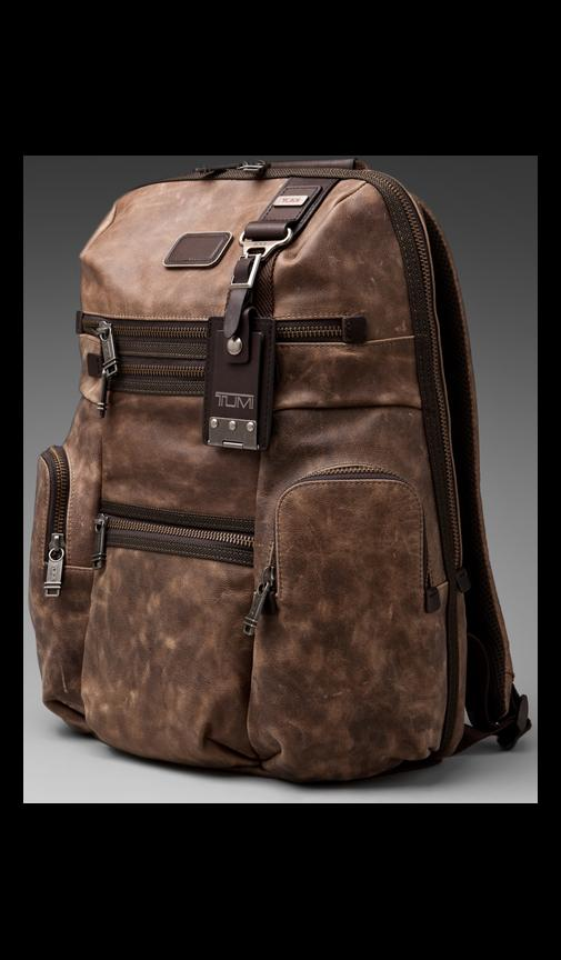 Alpha Bravo Leather Knox Backpack