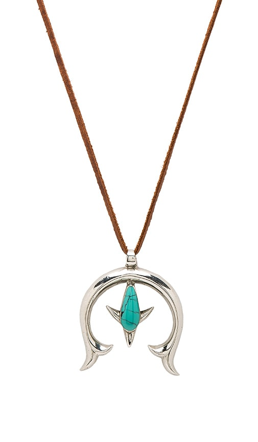 Turquoise + Tobacco Peyote Necklace in Brown