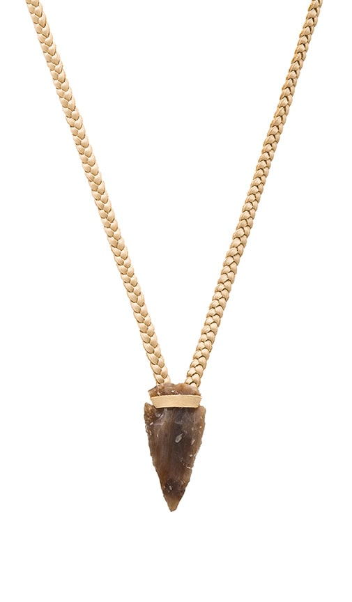 Turquoise + Tobacco Tribe Necklace in Cream