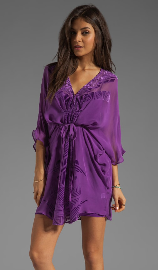 Prato Burnout Caftan Dress