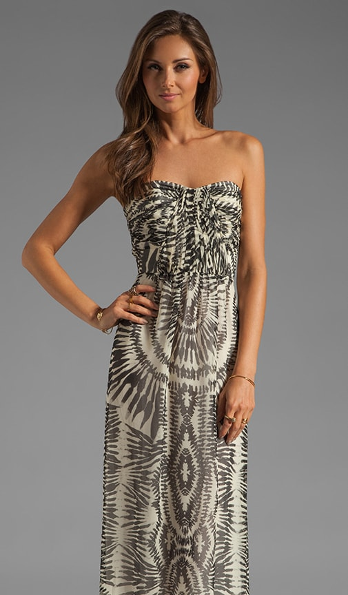 Bermudian Draped Bodice Maxi Dress