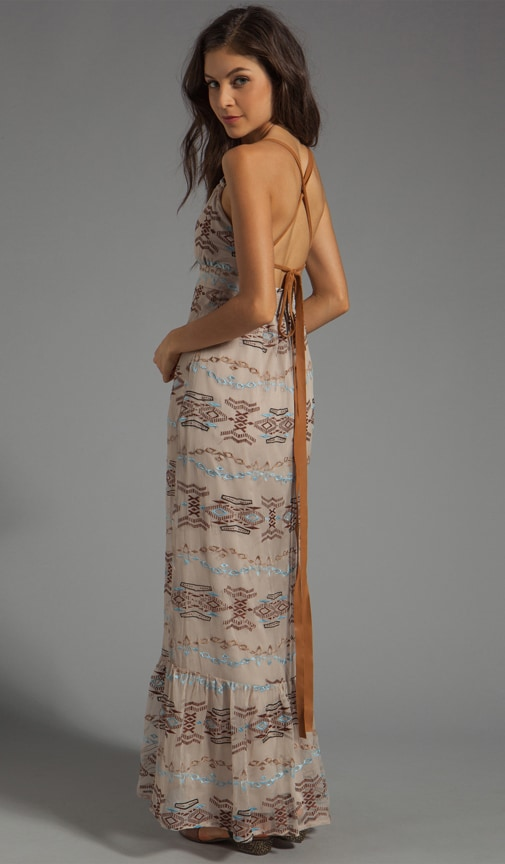 Leather Strap Halter Maxi
