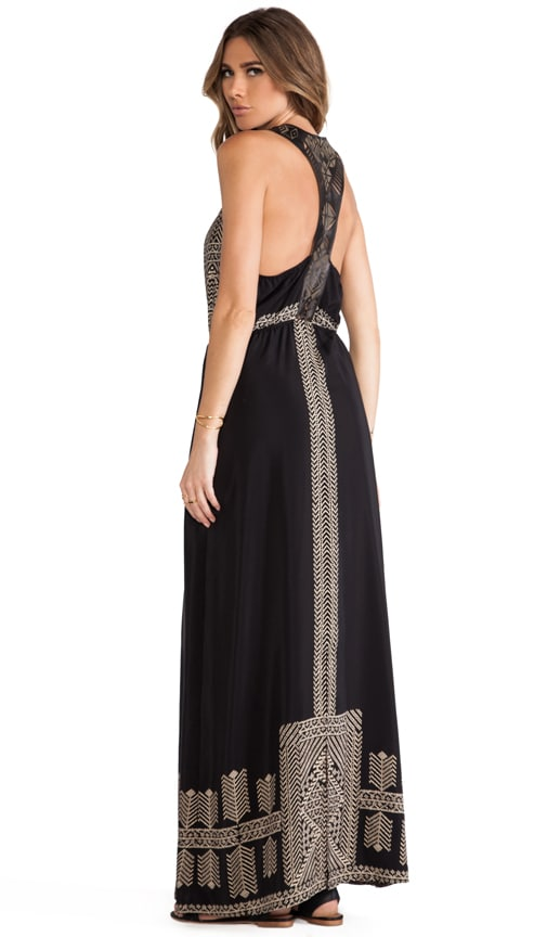 Pyramids Leather Racerback Maxi Dress