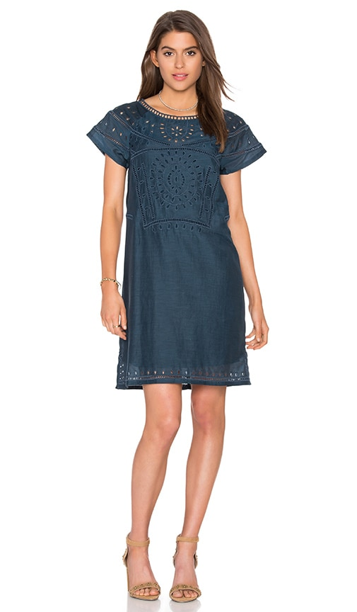 Twelfth Street By Cynthia Vincent Cut Out Embroidery Dress in Navy