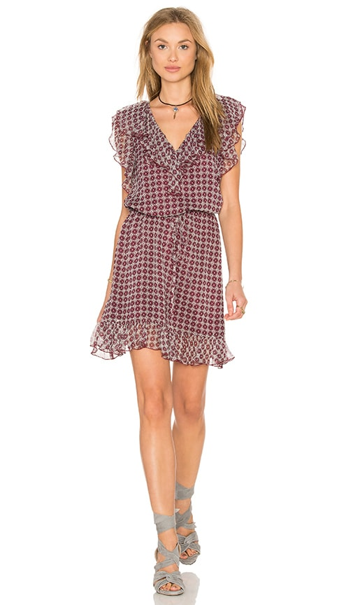 Twelfth Street By Cynthia Vincent Double Ruffle Dress in Burgundy