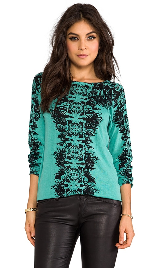 Carey Feather Print Pullover