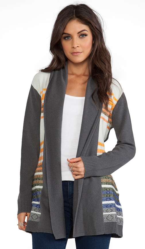 Knit Stripe Log Cabin Cardigan