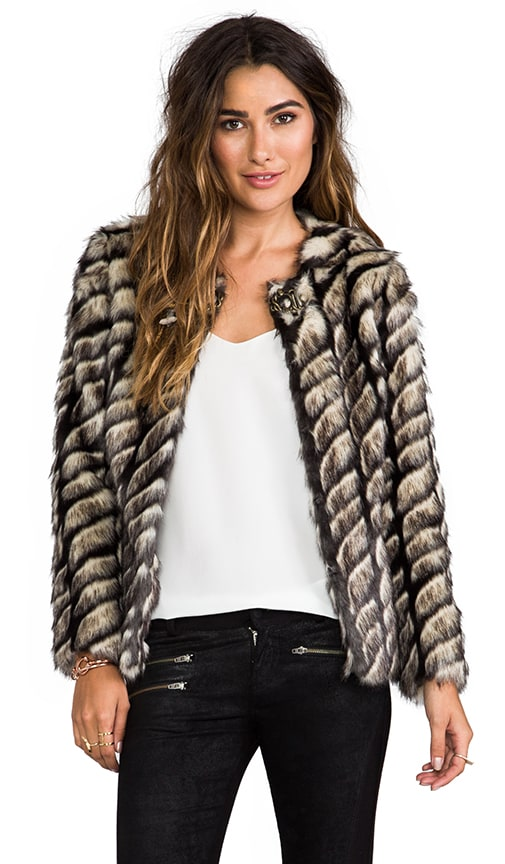 Shadows and Light Faux Fur Jacket