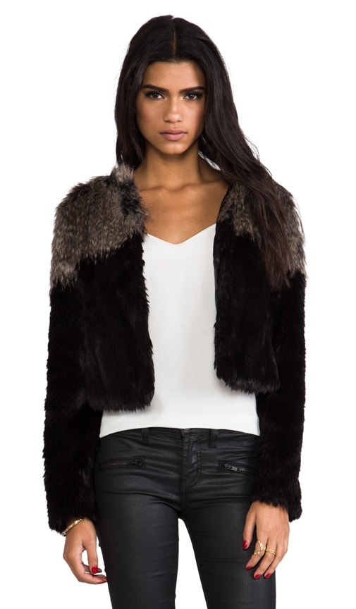 Two Tone Chubby Faux Fur Pullover