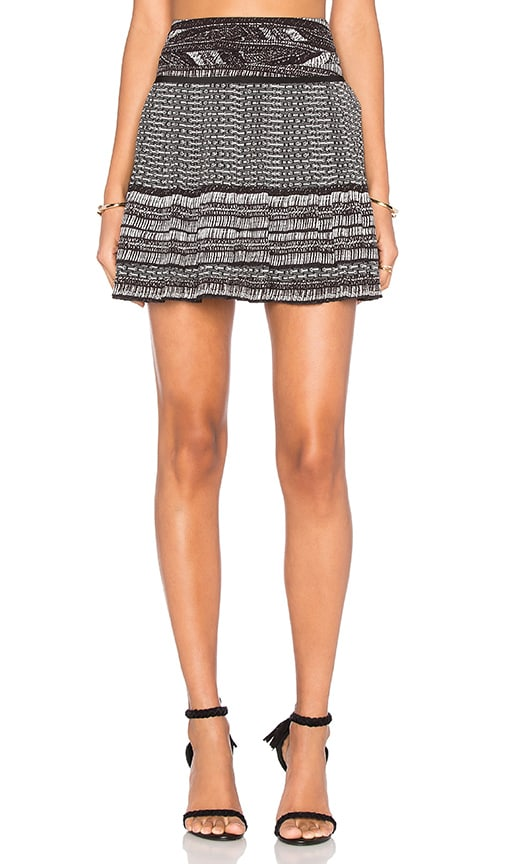 Twelfth Street By Cynthia Vincent Short Pleated Skirt in Black
