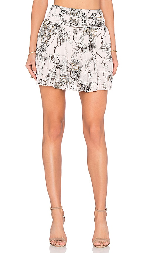 Twelfth Street By Cynthia Vincent Shirt Pleated Skirt in Blush Garden Floral