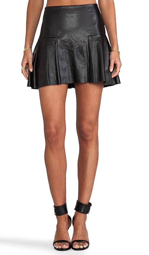 Dreja Faux Leather Mini Skirt