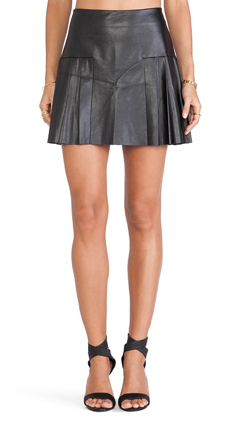 0abd15d0d2fa Twelfth Street By Cynthia Vincent Faux Leather Pleated Mini Skirt in ...