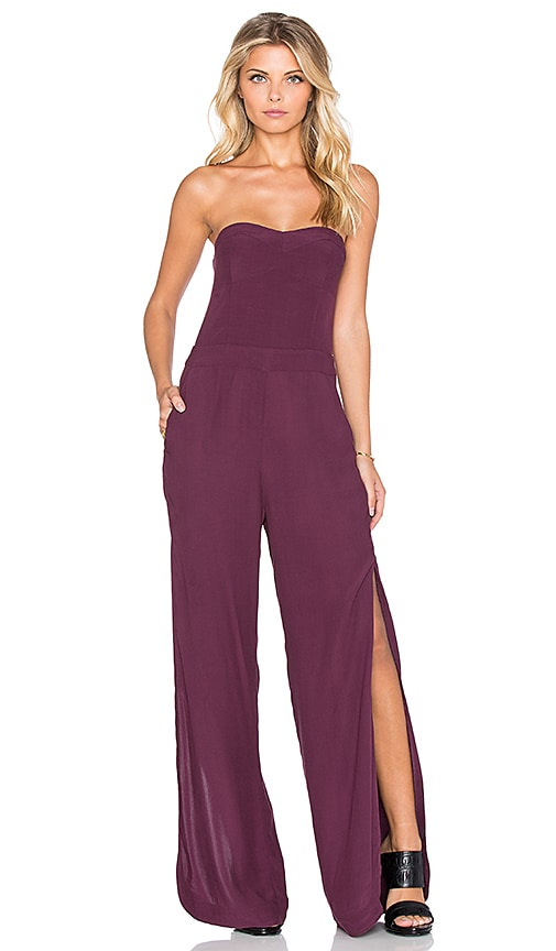 Strapless Side Slit Jumpsuit
