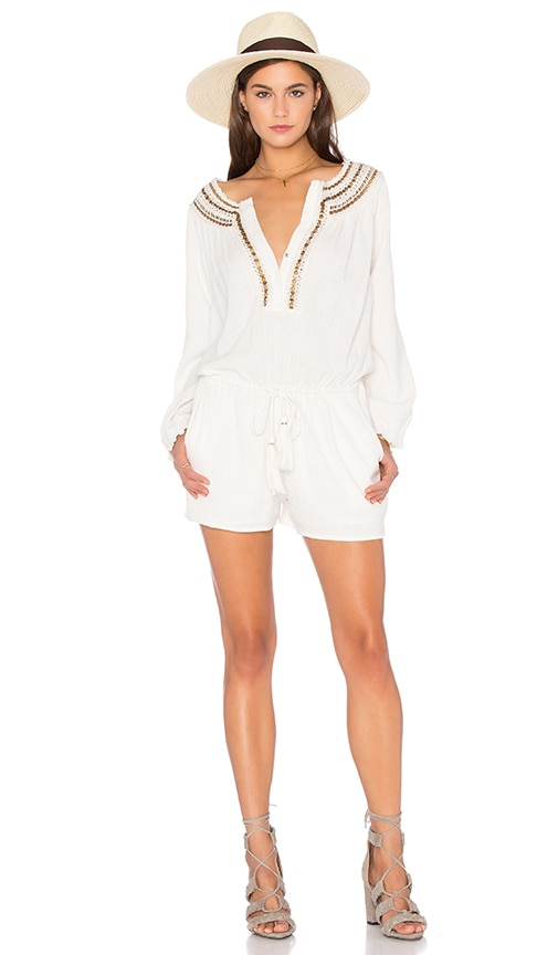 Neck Detail Drawstring Romper
