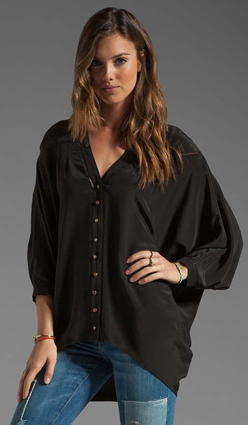 High-Low Dolman Blouse
