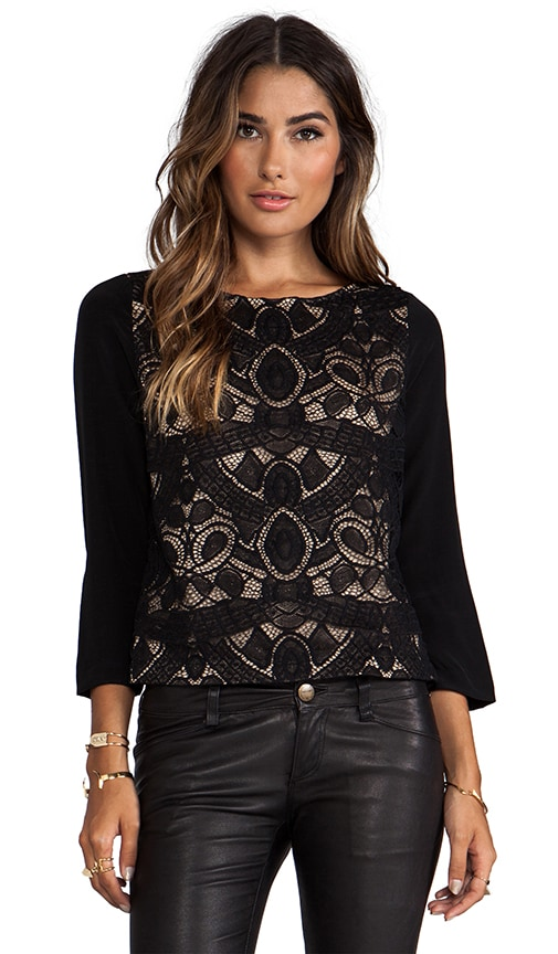 Both Sides Now Lace Front Blouse