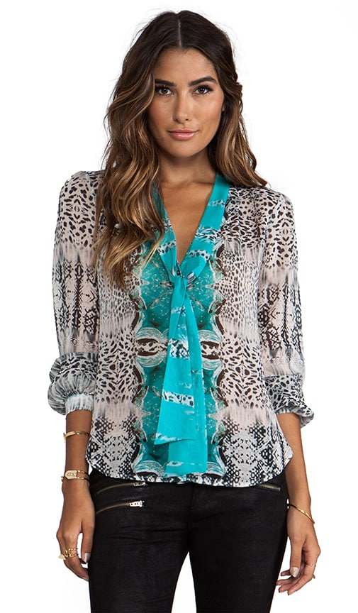 Ladies of the Canyon Tie Front Blouse