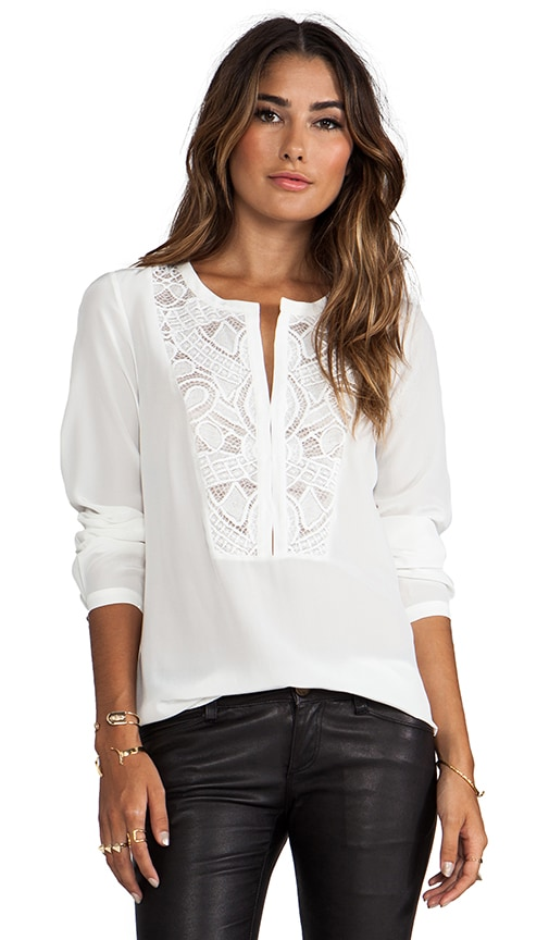 Both Sides Now Lace Bib Henley