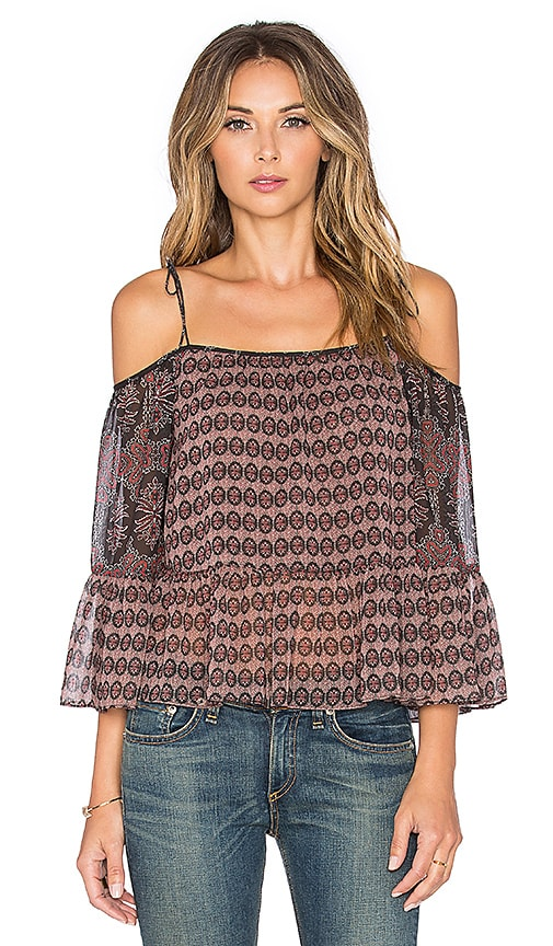Twelfth Street By Cynthia Vincent Embroidered Trouse Top in Red