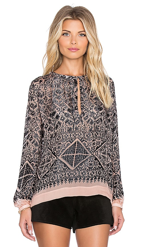 Twelfth Street By Cynthia Vincent Nomad Peasant Top in Black