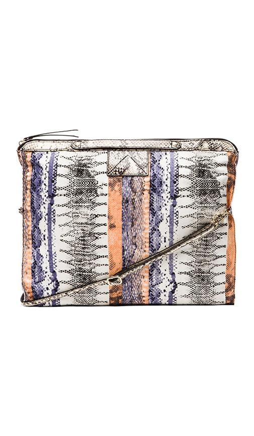 Bankers Printed Snake Leather Crossbody Bag