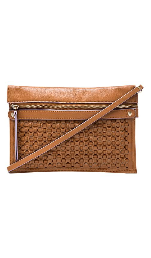 Elsa Woven Leather Pouch