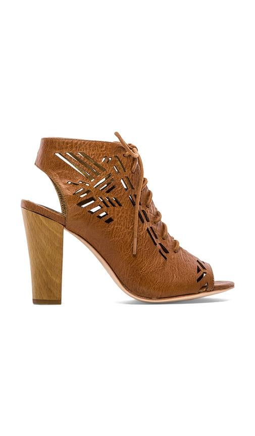 Sivan Laser Cut Lace Up Suede Sandal