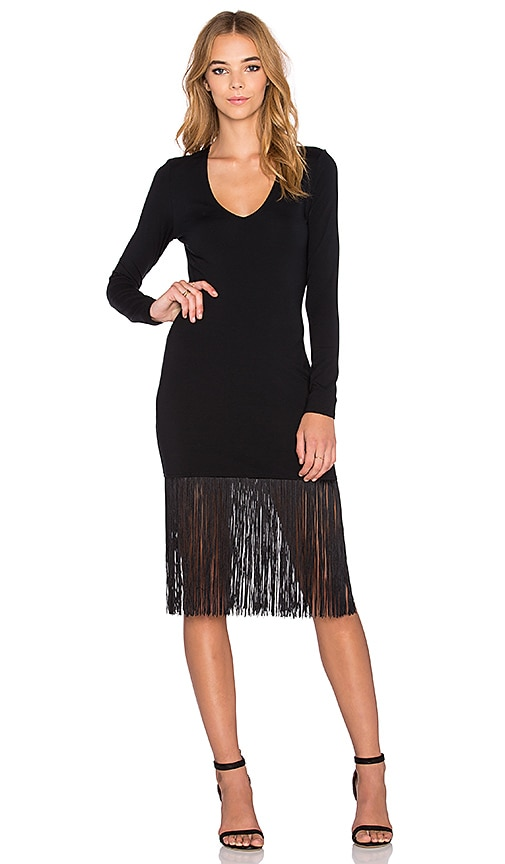 twenty Fringe Dress in Black