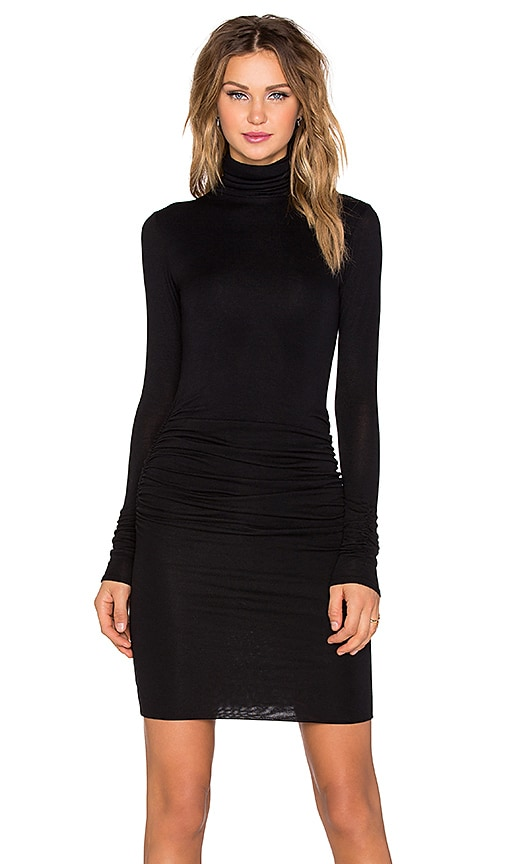 twenty Turtleneck Dress in Black